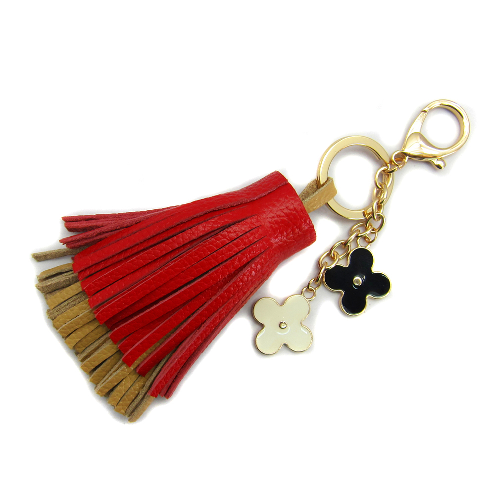Handmade Genuine Leather Tassel Pendant Mobile/Bag Key Chains Bag ...