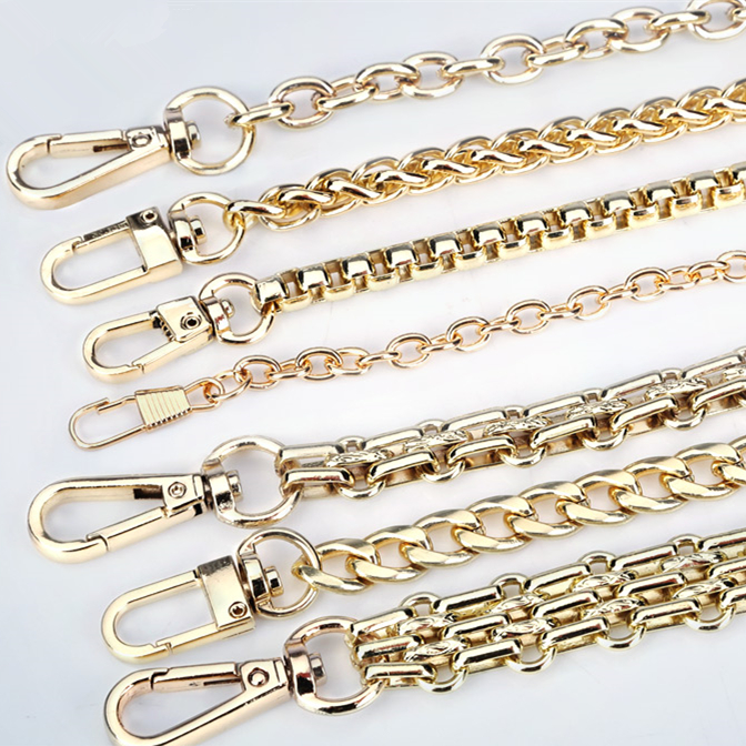 Bag Parts & Accessories 100% Quality Metal Chain Shoulder Crossbody Strap For Small Handbag Purse Bag Replacement 40cm 120cm